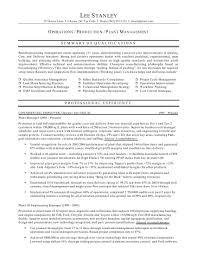 production resume