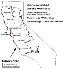 map of california gold rush