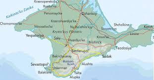 mapa krymu