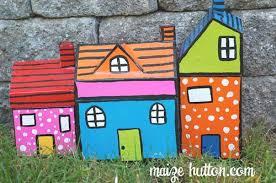 paper mache houses