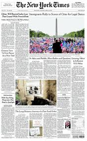 nytimes front page