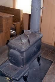 antique woodburning stove