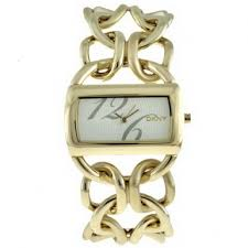 dkny watches gold