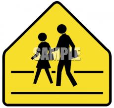 school crosswalk sign