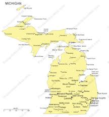map of cities in michigan