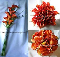 orange calla lily wedding
