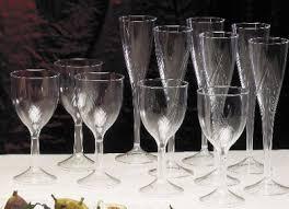 plastic wedding glasses