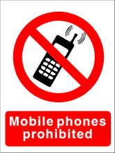 no mobile sign