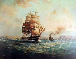 paintings of tall ships