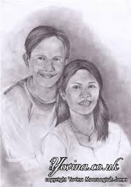 sketched portrait