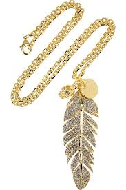 gold feather pendant