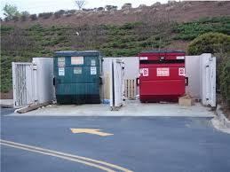 red recycling bins