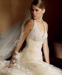 halter style bridal gowns