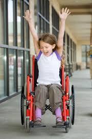 paraplegic child