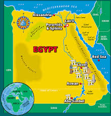 map of egypt for kids