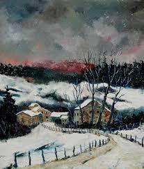 paintings snow