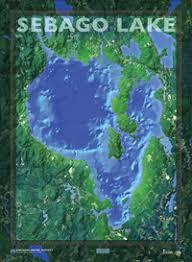 sebago lake map