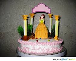 belle birthday cake