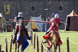 medieval knight jousting
