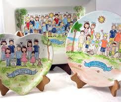 hand painted platter
