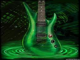 neon green guitars