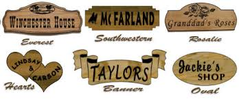 decorative wooden sign