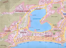 copacabana beach map