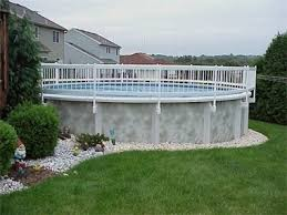 above ground pool railing