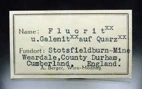 specimen label