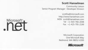microsoft business card