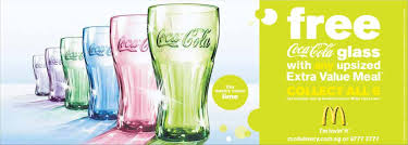 mcdonald coke glasses