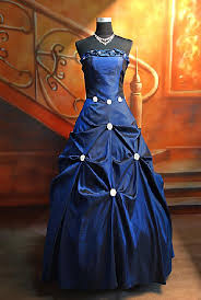 evening gown blue