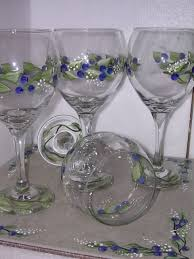 painted wineglasses