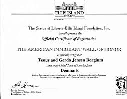 immigration certificate