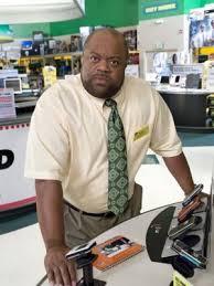large black man