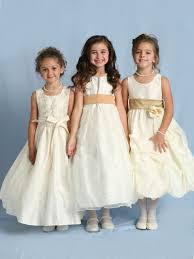 gold flowergirl dress