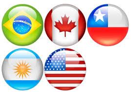 banderas del continente americano