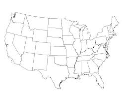 outline map of united states of america