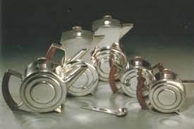 art deco tea service