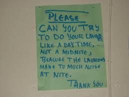 laundromat signs