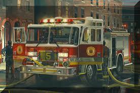 firefighting artwork