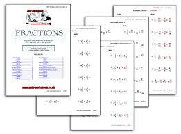 fraction sheet
