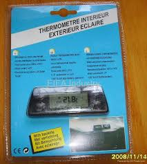 thermometer car