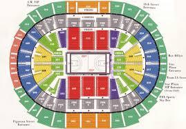 staple center seating map