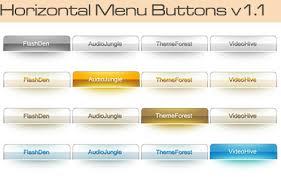 horizontal menu design