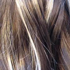 pictures of brown hair with blonde streaks