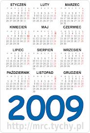 kalendarz 2009 do wydrukowania