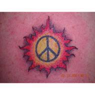 small peace sign tattoo