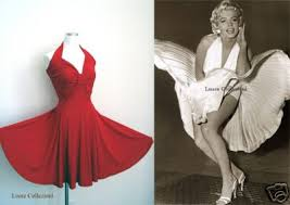 red halter cocktail dress
