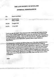 example of a memorandum